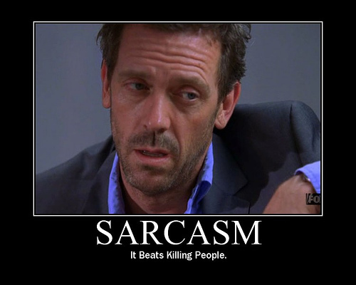 sarcasm hugh laurie